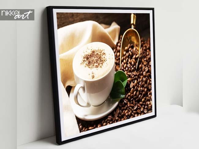 Foto op linnen koffiebonen